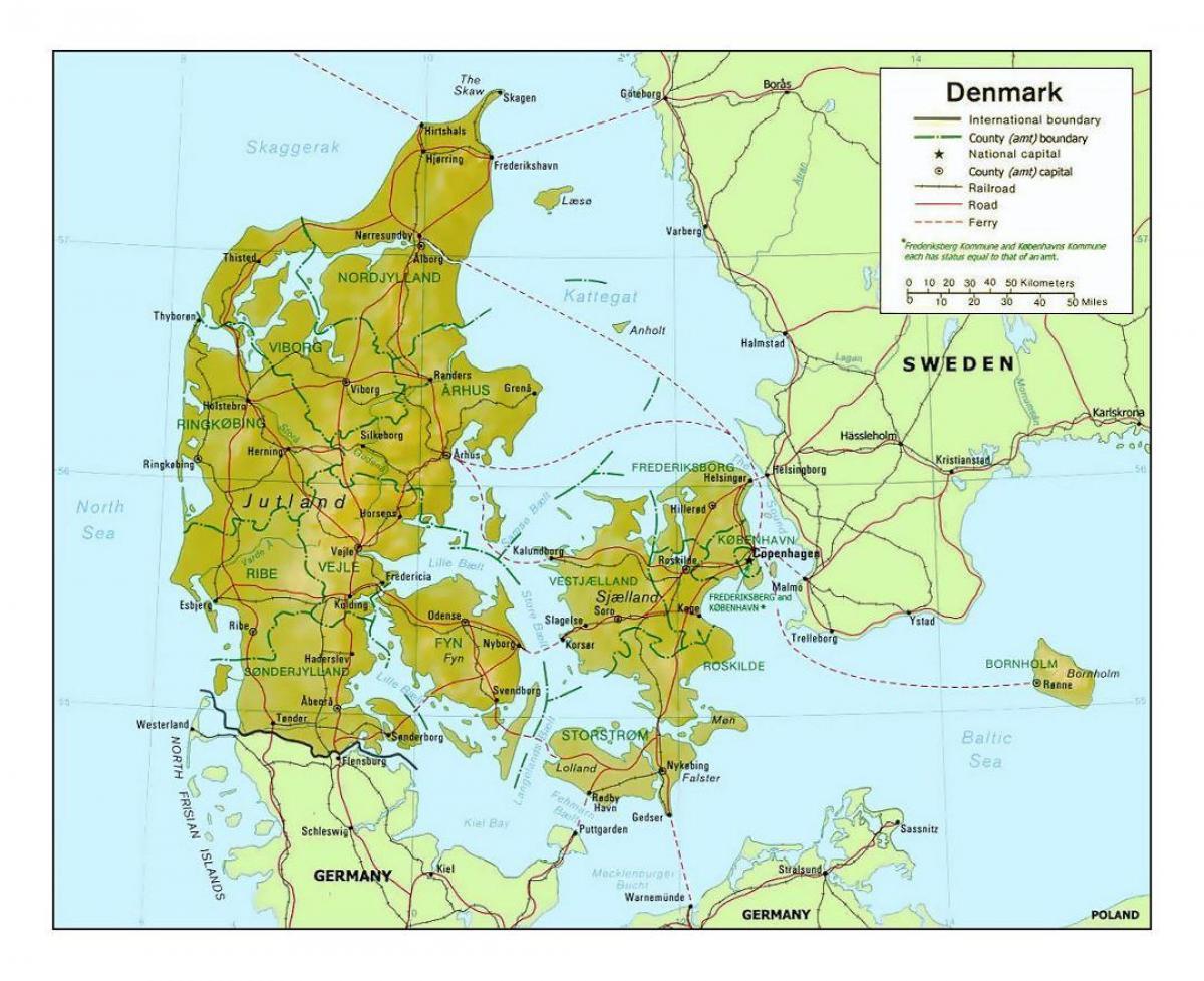 Danmark Kommune Kort Kort Over Danmark Kommune I Det Nordlige