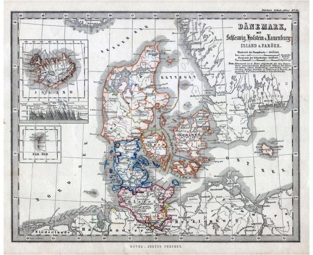 Danmarks Gamle Kort Gamle Kort Over Danmark I Det Nordlige Europa