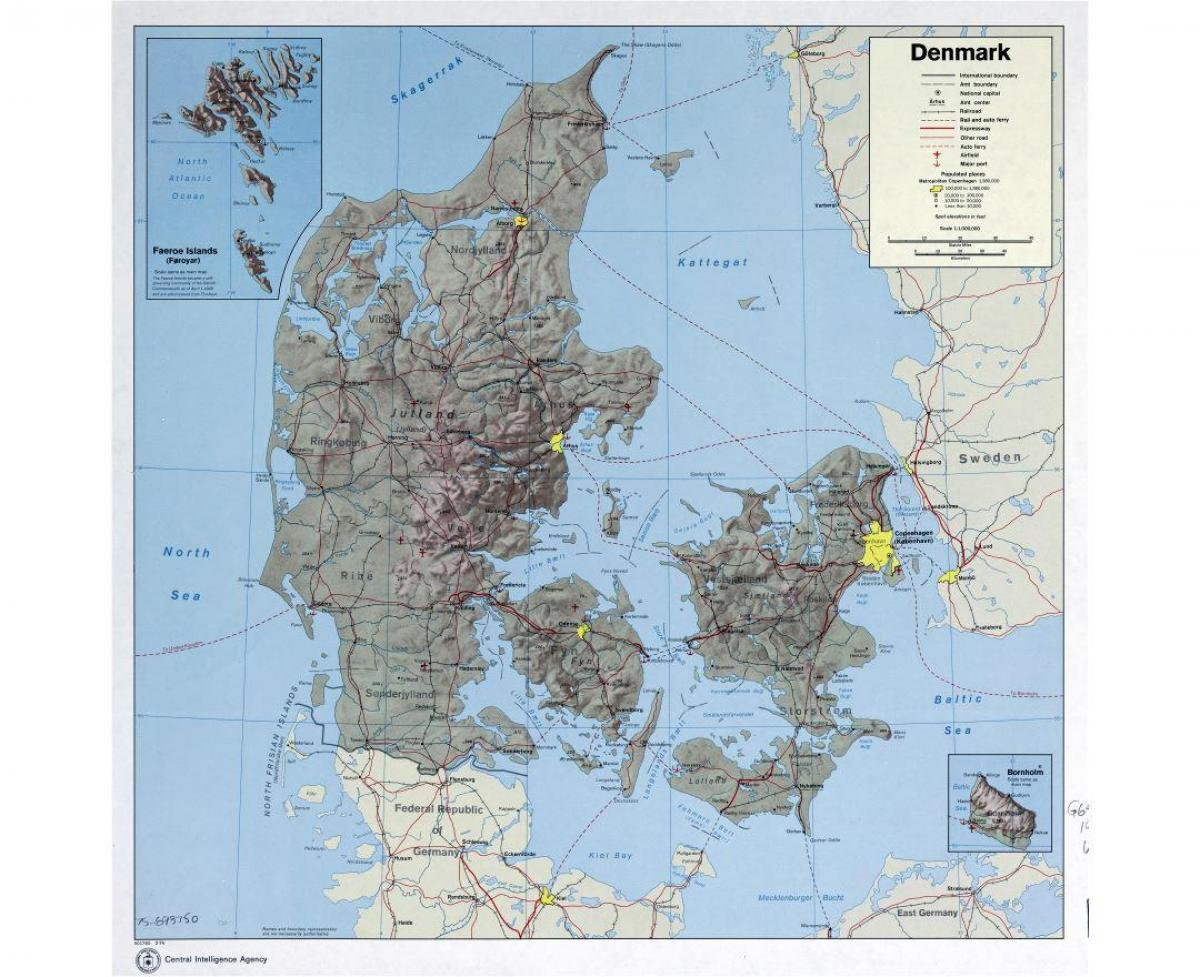 Lufthavne I Danmark Kort Kort Over Lufthavne I Danmark I Det